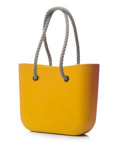 Another great find on  zulily! Yellow Chrome Natural Rope Handle O Bag by O 20375b06f33