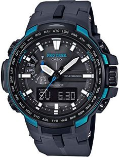 Casio Protrek Watches - Designed for Durability. Casio Protrek - Developed for Toughness Forget technicalities for a while. Let's eye a few of the finest things about the Casio Pro-Trek. Casio Protrek, Sport Watches, Cool Watches, Watches For Men, Black Watches, Amazing Watches, Wrist Watches, Casio G Shock, Radio Controlled Watches