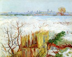 Snowy Landscape with Arles in the Background by Vincent Van Gogh | Art Posters & Prints