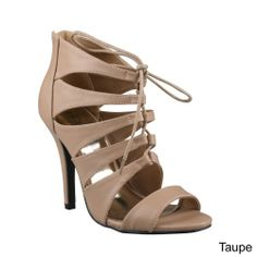 Taupe Strappy Heels
