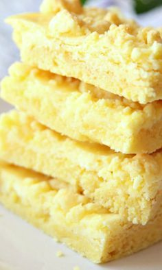 Lemon Cream Cheese Cookie Bars Recipe ~ They're heaven in a pan!