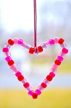 #Valentine's beaded heart tutorial for #kids