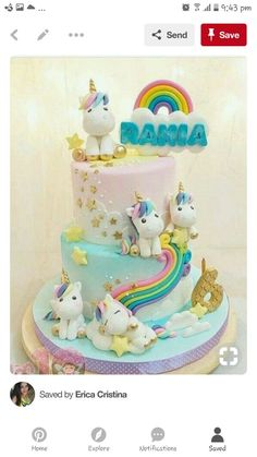 Trendy Ideas For Birthday Party Girl Unicorn Cake Ideas Baby Cakes, Girl Cakes, Unicorn Birthday Parties, Unicorn Party, Birthday Cake, Unicorn Cakes, Unicorn Cake Topper, Rainbow Birthday, Deco Cupcake