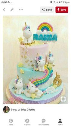 Trendy Ideas For Birthday Party Girl Unicorn Cake Ideas Baby Cakes, Girl Cakes, Deco Cupcake, Cupcake Cakes, Unicorn Birthday Parties, Unicorn Party, Cake Birthday, Rainbow Birthday, Unicorn Foods