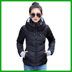 New Arrival Ladies Fashion Coat Winter Jacket Outerwear Short Wadded Jacket Female Padded Parka Overcoat Women MC1095