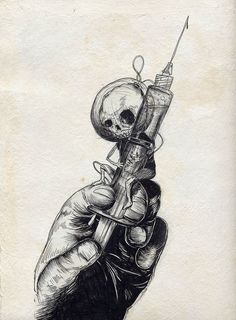 ideas for dark art drawings sketches death Arte Horror, Horror Art, Cool Drawings, Tattoo Drawings, Skull Drawings, Pinterest Arte, Drugs Art, Arte Black, Desenho Tattoo