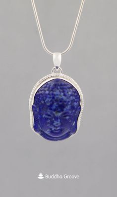 This Buddha face pendant is made of Lapis Lazuli stone, a gemstone of truth, self-discovery, and spiritual exploration. Lapis is set in a sterling silver base. Buddha Buddha, Buddha Face, Buddha Jewelry, Spiritual Growth, Deep Blue, Lapis Lazuli, Discovery, Calm, Pendants