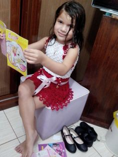 saia e blusa para Sandra . modelo Lyah Hadassa 5 anos encomenda Facebook Ruth Costa Dos Santos R.j. Brasil