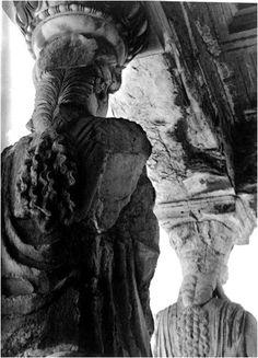 The caryatids of the Erechtheion, 1930 Greece Architecture, Architectural Sculpture, Greek Art, Dance Art, Renaissance Art, Ancient Greece, Ancient History, Archaeology, Egypt