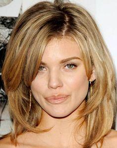 20 medium length haircuts for thick hair. Medium hairstyle for thick hair…