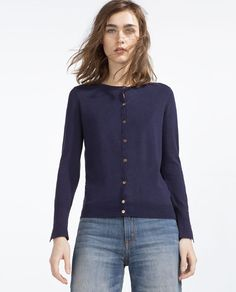 ROUND NECK CARDIGAN from Zara