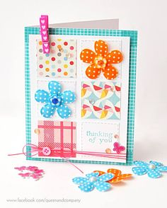 Thinking of You - Scrapbook.com - Made with brand new Queen and Company supplies.