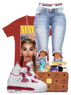 """""""alternate4s"""" by ballislife ❤ liked on Polyvore featuring Moschino, Marc by Marc Jacobs and NIKE"""
