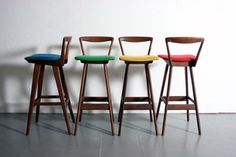 Unique Mid Century bar Stools | Latest Outdoor Decoration