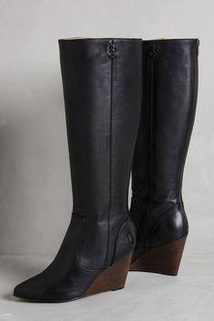 Frye Regina Wedge Tall Boots #anthrofav