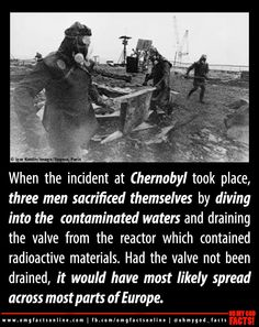 three heroes of Chernobyl disaster