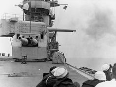 USS Lexington 28CV-229 firing 203mm guns 1928
