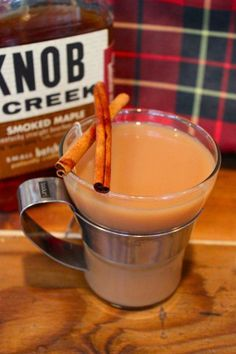 Fall Camping Cocktail #Recipe: Smoked Maple Bourbon Chai Tea Toddy