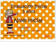 """Evaluación Inicial de Educación Infantil de 5 años"" Preschool Education, 5 Years, Counseling, Teacher, Chart, How To Plan, The Originals, Learning, Math"