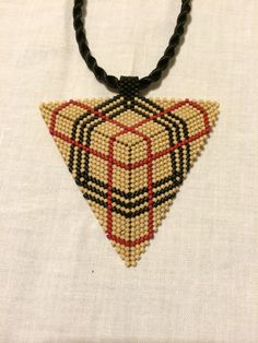 Burberry model with delicas beads