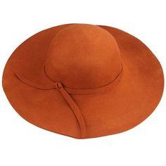 Chapéu de feltro marrom aba grande