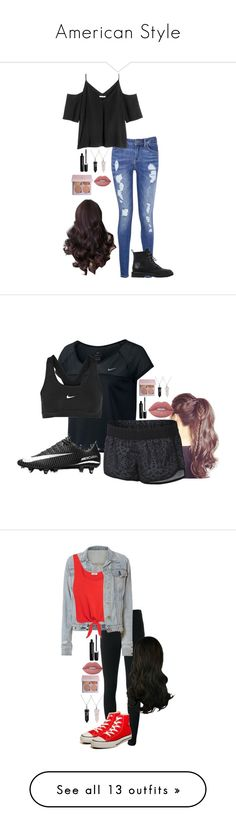 """""""American Style"""" by lily-hollibaugh on Polyvore featuring Bling Jewelry, Tommy Hilfiger, Marc Jacobs, Lime Crime, Giuseppe Zanotti, NIKE, Givenchy, rag & bone, Splendid and Converse"""