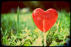 Happy Valentine's Day  12 Long Stem Heart by LeccareLollipops, $12.00