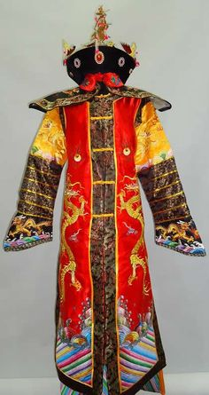 Chinese Classic Qing Dynasty Empress Costume and Crown Complete Set