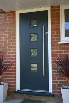 Entrance doors & front doors in Surrey, Hampshire & Berkshire Entrance Doors, Garage Doors, Front Doors, Filing System, New Builds, Surrey, House Design, Windows, Contemporary