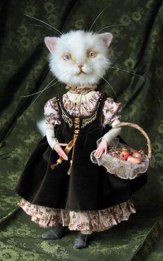 White cat by Tireless artist