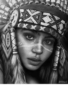 American Indian Girl, Native American Girls, Native American Pictures, Native American Beauty, Native American Totem, Native American Tattoos, Native Tattoos, Rauch Tattoo, Indian Girl Tattoos
