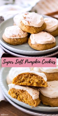 Oct 23 This super Soft Pumpkin Cookies recipe is topped with a maple frosting! This easy pumpkin cookies recipe i. Soft Pumpkin Cookie Recipe, Pumpkin Puree Recipes, Pumpkin Spice Cookies, Pureed Food Recipes, Easy Cookie Recipes, Pumpkin Dessert, Apple Recipes, Pumpkin Spice Latte, Baking Recipes