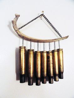 Bullet and Bone Wind Chime Mini by bonejewelrybynicol on Etsy, $60.00