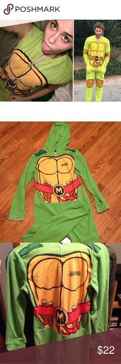 teenage mutant ninja turtle onesie as seen on miley cyrus and liam hemsworth! super comfy :) not f21 Forever 21 Intimates & Sleepwear