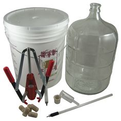Dadant catalog M01405 M01405 Wine & Mead Making Kit -- For those interested in producing mead or wine this kit comes with all you need to make your first batch. Kit includes a 7.8 gallon primary fermenting vessel, 5 gallon glass carboy, bung and air lock, hydrometer, fast flow spigot, 30 corks, and Portuguese corker. Wine yeast is sold separately due to different types of wine/mead that can be produced and personal preference.