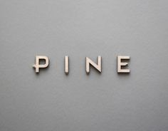 Being huge typography fans here at Creative Bloq, our excitement levels are always raised a notch or two when we come across innovative new designs like this handcrafted typeface Pine by Cody Petts. Font Design, Signage Design, Branding Design, Web Design, Graphic Design Studio, Graphic Design Typography, Typographie Inspiration, Logo Inspiration, Types Of Lettering