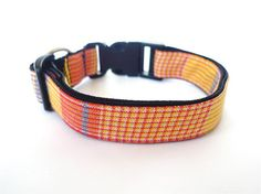 Collar Yellow Yellow plaid by usagiteam on Etsy, $19.00