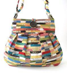 shoulder tote bag fabric messenger bag diaper bag by daphnenen