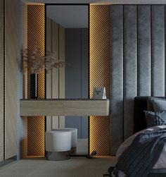 Design interior apartment on Behance Modern Luxury Bedroom, Master Bedroom Interior, Bedroom Furniture Design, Home Room Design, Master Bedroom Design, Luxurious Bedrooms, Living Room Designs, Bedroom Decor, Door Design Interior
