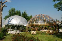#Cupola geodetica in acciaio stampato simil-wood e cupola con struttura in acciaio #LerianSrl