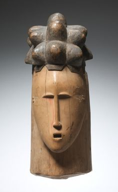Female Face Mask | Female Face Mask, early-mid 1900s      Guinea Coast, Ivory Coast, Baule , early-mid 20th century      wood, Overall - h:41.20 cm (h:16 3/16 inches). Gift