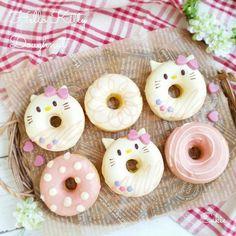Fancy Donuts, Diy Donuts, Cute Donuts, Homemade Donuts, Baked Donuts, Delicious Donuts, Delicious Desserts, Comida Para Baby Shower, Cute Baking