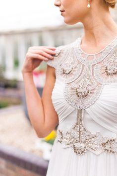 Gorgeous beaded wedding dress | Photography: Anushé Low - anushe.com  Read More: http://www.stylemepretty.com/destination-weddings/2014/04/23/botanical-wedding-inspiration/