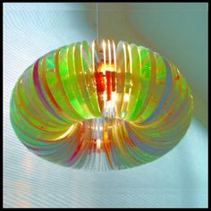 Dollar Store Crafter: Turn Old CD's Into This CD Light Fixture