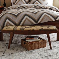 Kuba Crescent Bench - Neutral Graphic at West Elm need. African Interior, African Home Decor, Home Decor Furniture, Modern Furniture, African Bedroom, African Furniture, Plaid Bedding, Traditional Decor, Decoration