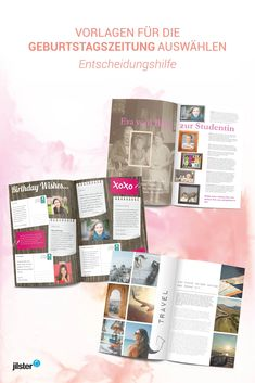 Our templates are a great and above all practical thing to design a layout for your own birthday new Wedding Photography Contract, Newspaper, Layout, The Selection, Positivity, Templates, Storage, Birthday, Design
