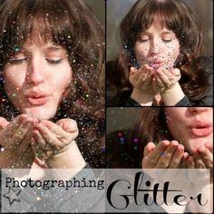 So that's how you do it! Tips for photographing 'blowing glitter' effect. #photography #glitter