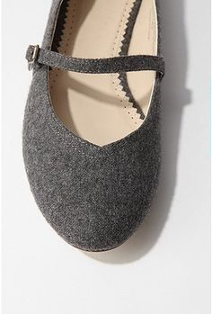 Wool Mary Jane Flat