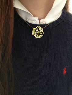 Classic monogram necklace #ivy #league #preppy