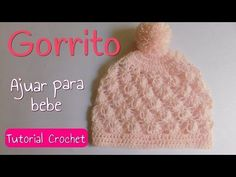 Beautiful Beanie Hat Tutorial - Page 2 of 2 - ilove-crochet Bonnet Crochet, Crochet Beanie Hat, Crochet Cap, Beanie Hats, Knitted Hats, Crochet Baby Clothes, Crochet Baby Hats, Knitting Stiches, Baby Knitting